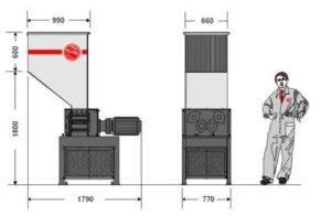 Четырёхвальный шредер 2566