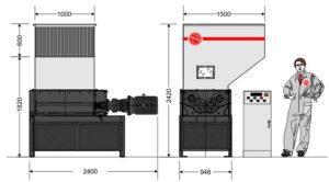 Четырёхвальный шредер 10080S