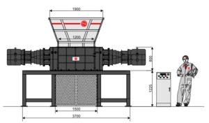 Четырёхвальный шредер 120130S-MAX