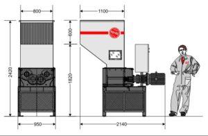 Четырёхвальный шредер 4080S