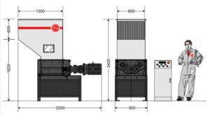 Четырёхвальный шредер 6080S