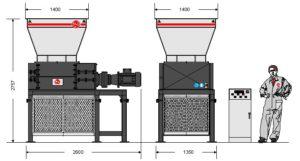 Четырёхвальный шредер 80-100S