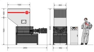 Четырёхвальный шредер 8080S